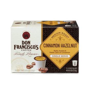 F. Gavi A & Sons, Inc. Don Francisco's Cinnamon Hazelnut Medium Roast, Single-Serve Coffee, 12-Count (Pack of 6)