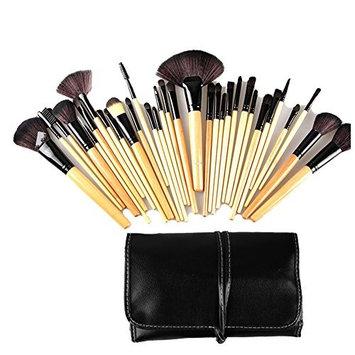 Boboshop Pink 24pcs Professional Wool Cosmetic Makeup Brush Set Kit Brushes tools Make Up Case