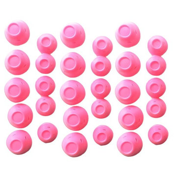 Silicone Hair Curler Magic Hair Care Rollers No Heat Hair Styling Tool Pink 30pc
