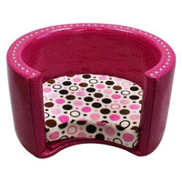 Harmony Kids Spoiled Rotten Classic Small Pet Bed Lime Twist Vinyl Cuddle Shaggy
