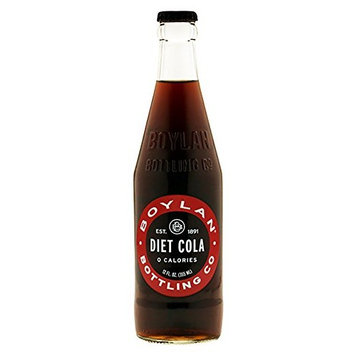 Boylan Diet Cane Cola Soda, 12 oz Glass Bottles