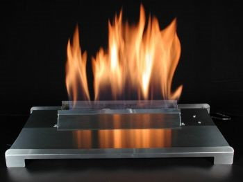 American Fireglass 20 Double Face Black finish Propane Burner with On/Off Control