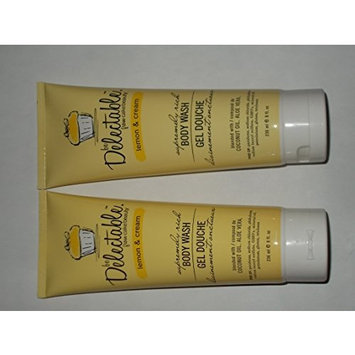 Be Delectable Cake Beauty Lemon And Cream Body wash 2 bottles and 1 Lebiome coconut shea butter sheet mask (bundle)