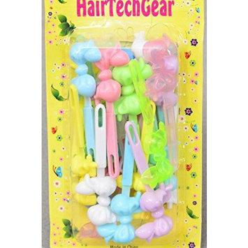 Kids bubble Bow Tie Barrettes (Various Colors)