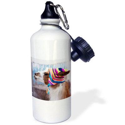 3dRose Peru, llama in a village - SA17 JRI0005 - Jutta Riegel, Sports Water Bottle, 21oz