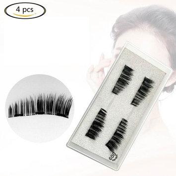 3D Magnetic False Eyelashes Full Hair Reusable Magnet Eyelash 4pcs Kit Party Makeup Gift