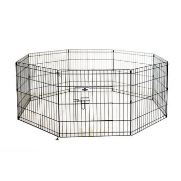 Confidence Pet Metal Playpen Exercise Pen Fence Cat Kennel SM