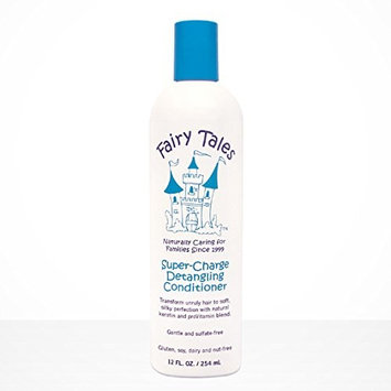 (1) Fairy Tales Super Charge Detangling Conditioner - 12 oz & Includes (1) FREE Animal Print Bath Mitt! - Colors and prints vary upon availability!: Beauty