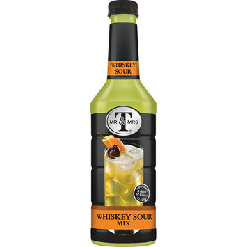 Mr & Mrs T Whiskey Sour Cocktail Mix, 1 L Bottle , 1 Count (Pack of 6)