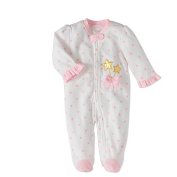 Team 365 Rene Rofe Baby Newborn Girl Fleece Sleep 'N Play