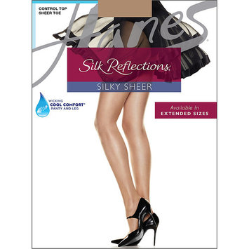 Womens Control Top Sheer Toe Silk Reflections Panty Hose