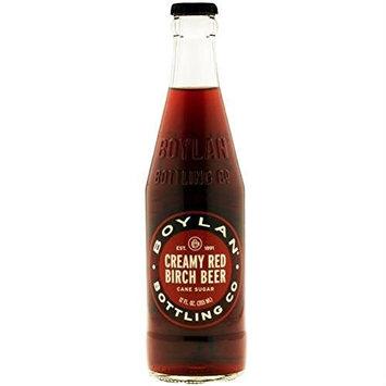 Boylan's Creamy Red Birch Beer Soda Pop, 12 Ounce (24 Glass Bottles)