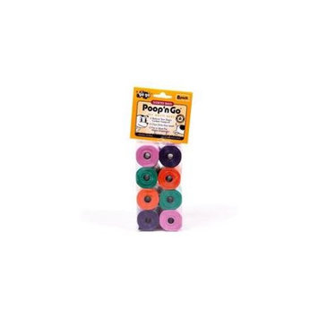GoGo 13535 Pet Waste Bags Scented 8 Rolls Assorted Colors