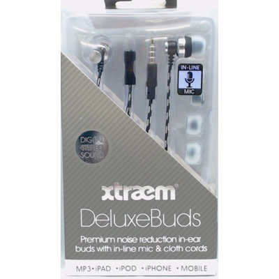 Seneca River Trading Sentry Xtraem Deluxe Noise Reduction In-Ear Buds with In-Line Mic, Green, HM560G
