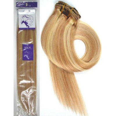 Grammy 15 Inch 7pcs Remy Clips in Human Hair Extensions 70gr with Clips for Highlight (#1b Natural Black)