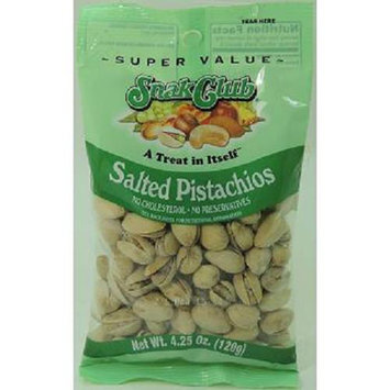 SNAK CLUB SUPER VALUE SALTED PISTACHIOS 4.25 oz Each ( 6 in a Pack )
