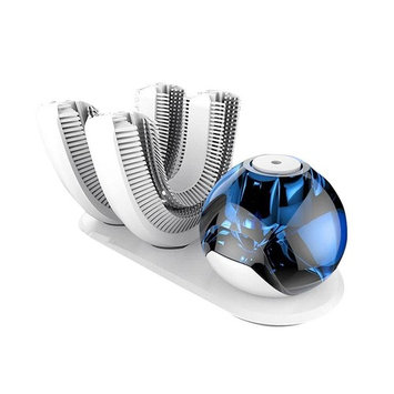 Ultrasonic 360 ° Automatic Toothbrush All Tooth 15 Seconds U Type Toothbrush Wireless Charging