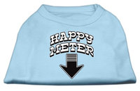 Mirage Pet Products 5126 XLBBL Happy Meter Screen Printed Dog Shirt Baby Blue XL 16