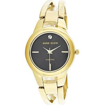 Anne Klein Women's AK-2628BKGB Gold Stainless-Steel Japanese Quartz Fashion Watch