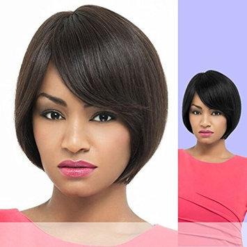 Foxy Lady Short Human Hair Full Wig - Kylie Color 2 Darkest Brown