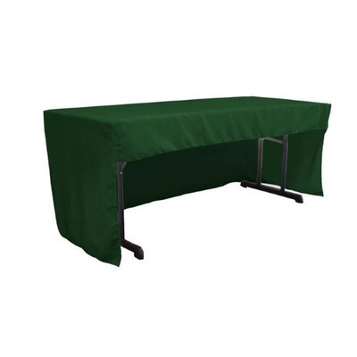 LA Linen TCpop-OB-fit-72x30x30-GreenHuP20 1.95 lbs Open Back Polyester Poplin Fitted Tablecloth Hunter Green
