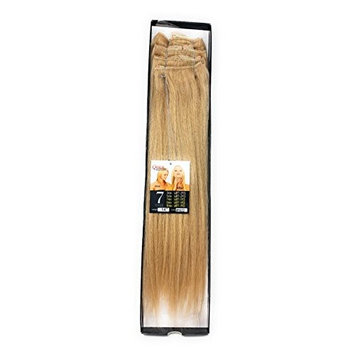 LORD & CLIFF SEVEN PIECE STRAIGHT REMY HAIR CLIP IN EXTENSION 14