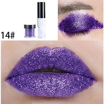 Dragon Ranee Shimmer Glitter Lip Gloss Powder Palette Glitter Lipstick Cosmetic Eye Shadow by DMZing (LE-14)