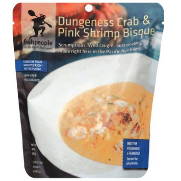 Fishpeople Dungeness Crab and Pink Shrimp Bisque, 10 oz, (Pack of 12)