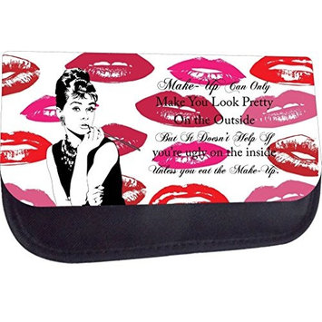 Rosie Parker Make-Up Can Only Make you Look Pretty, Vintage Style Audrey Hepburn Quote-Lips-Rosie Parker, Medium