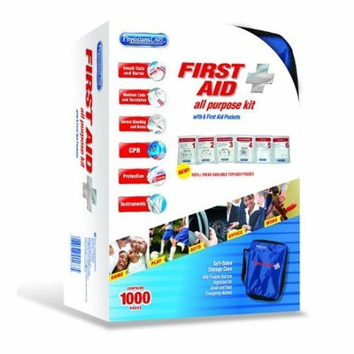 PhysiciansCare by First Aid Only Soft-Sided First Aid Kit for up to 10 People, Contains 95 Pieces