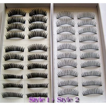 Click Down 20 Pairs Regular Long and Thick Eyelashes Style 1 and 2