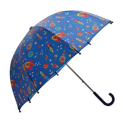 Pluie Pluie Kids Raingear Blue Outerspace Rocket Umbrella