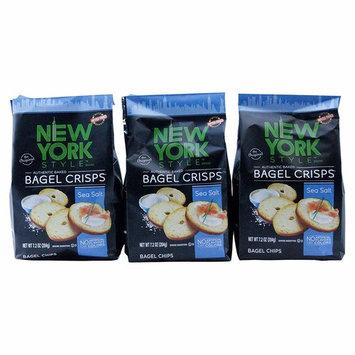 York Style Bagel Crisps Sea Salt, 7.2 Ounce -(Pack of 3) Best Party Snacks