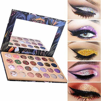 Eyebrow Cosmetic, Waterproof and Long-Lasting 28 Color Starry Sky Shimmer Glitter Eye Shadow Plate Powder Matt Eyeshadow for Professional Makeup or Daily Use