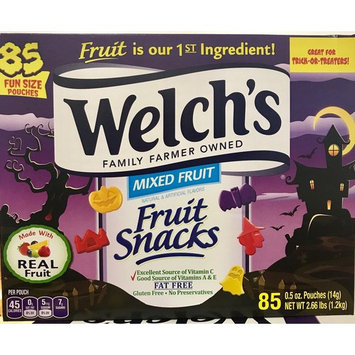 Welch's Halloween Fun Size Fruit Snacks, 0.5 Ounce, 85 Count