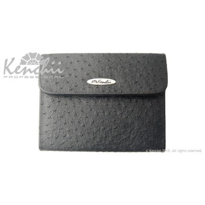 Kenchii KEO6RED 6 CASEOstrich Faux Leather 6-shear Case in Black Color