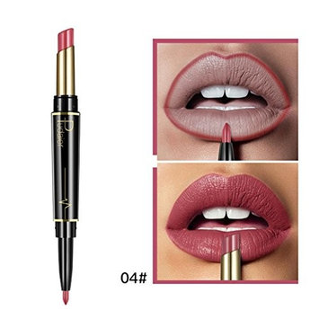 Double-end Lipstick Lipliner,16 Colors YOYORI Waterproof Long Lasting Durable Beauty Lip Gloss Sexy Moisturizing Lipstick Lip Gloss Fashionable Colors