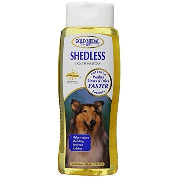 Gold Medal Pets Shed Less Shampoo with Cardoplex for Dogs, 17 oz.