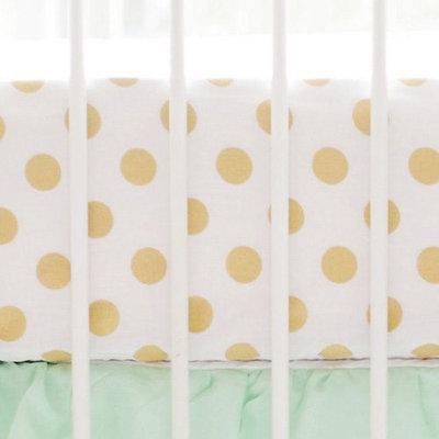 Polka Dot Crib Sheet by My Baby Sam Gold