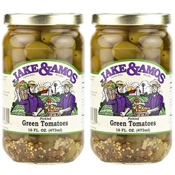 Dv Foods Jake and Amos Pickled Green Tomatoes - 2 - 16 oz. Jars