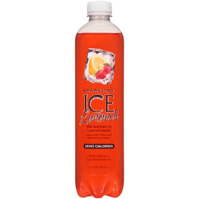 Talkingrain Beverage Co. Sparkling Ice Naturally Flavored Sparkling Water, Strawberry Lemonade, 17 Fl Oz, 12 Count