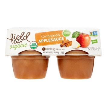 Field Day Applesauce, Apple Cinnamon, 4 Oz, 4 Ct