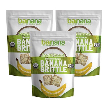 Barnana Banana Brittle, Toasted Coconut, 3.5 OZ, 3 Count - Organic dessert cookie style snack with potassium, vitamin C, and other clean ingredients. Gluten free