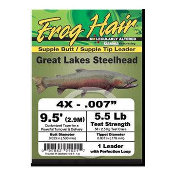 Frog Hair Great Lakes Steelhead Leader - 4X