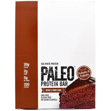 Julian Bakery, Paleo Protein Bar, Devil's Food Cake, 12 Bars, 2.22 oz (63.1 g) Each [Flavor : Devil's Food Cake]