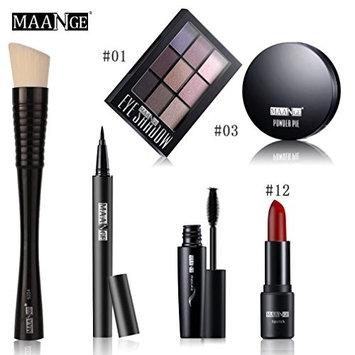 Portable Makeup Kit Brush Cosmetic Set,Blusher Lip Gloss Shimmer Eyeshadow Palette