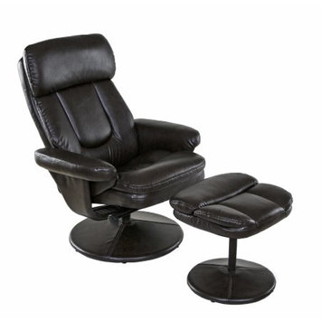 Comfort Products, Inc. Relaxzen Basic Bonded Leather Recliner with Ottoman