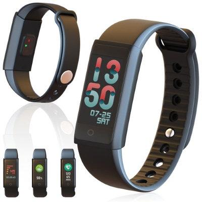 Indigi Waterproof Smart Health Fitness Tracking Bracelet + Heart Rate Sensor, Blood Pressure Monitor, & Pedometer
