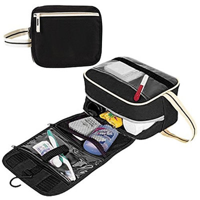 Toiletry Bag, AirBuyW 600D Poly Unisex Travel Toiletry Organizer Kit Bag With Plastic Hanger