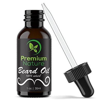 Beard Oil Conditioner for Men - Beard Balm Leave In Conditioner for Mustache & Beard Growth, Beard Care Kit Softener Soothe Wax & Moisturize Skin & Hair Cream Castor Jojoba & More Essential Oils